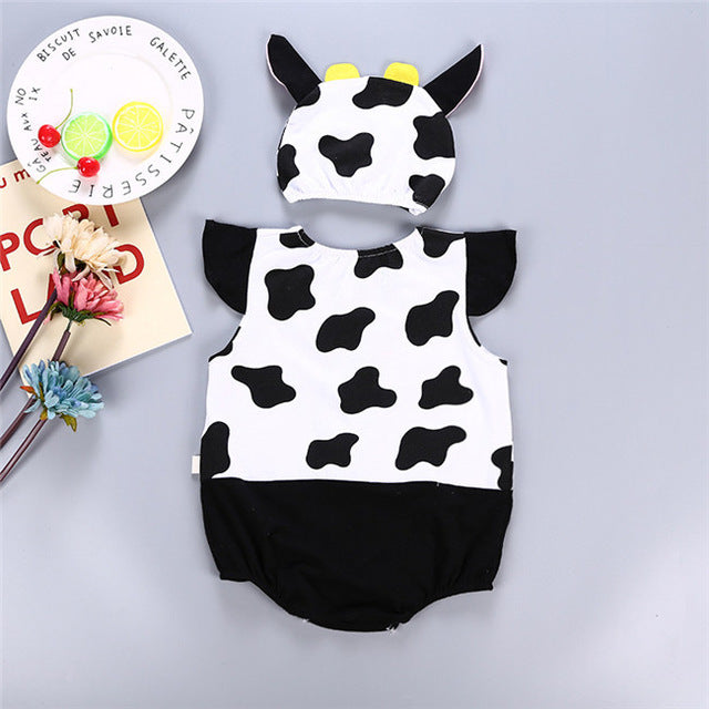 Summer Cotton Cow Bodysuit