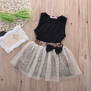 2 Pieces/Set Sleeveless Round Collar Top & Lace Dress Outfit