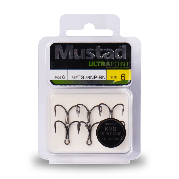 Mustad Kvd Triple Grip Treble 2X Strong 1X Strong