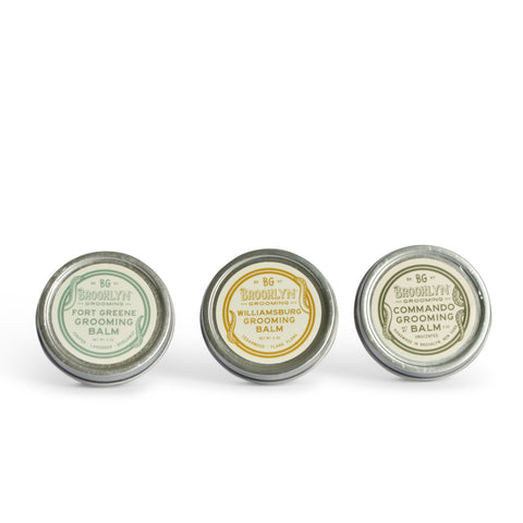 Certified Organic Beard Balm Set - Scent & Scent-free Beard Mr Brains and Brawn