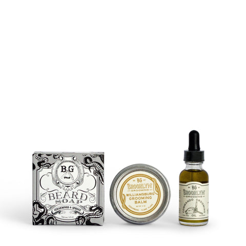 Complete Beard Grooming Kit - Cleanse, Style & Condition Beard Set Mr Brains and Brawn
