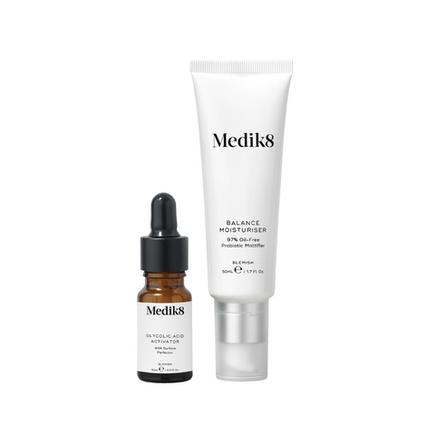 Medik8 - Balance Moisturiser with Glycolic Acid Activator 50ml+10ml Skin Mr Brains & Brawn