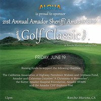 ALOHA SPONSORS 21ST ANNUAL SHERIFF/CHP GOLF CLASSIC