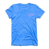 WOMEN'S TIKI TEE - BLUE