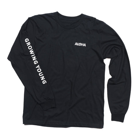 MEN'S KANALOA L/S TEE - BLACK
