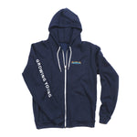 MEN'S ALOHA ZIP UP HOODIE - NAVY