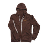 MEN'S ALOHA ZIP UP HOODIE - BROWN