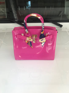 Fuchsia Pink Luxury Jelly Tote - Made Your Look Co.