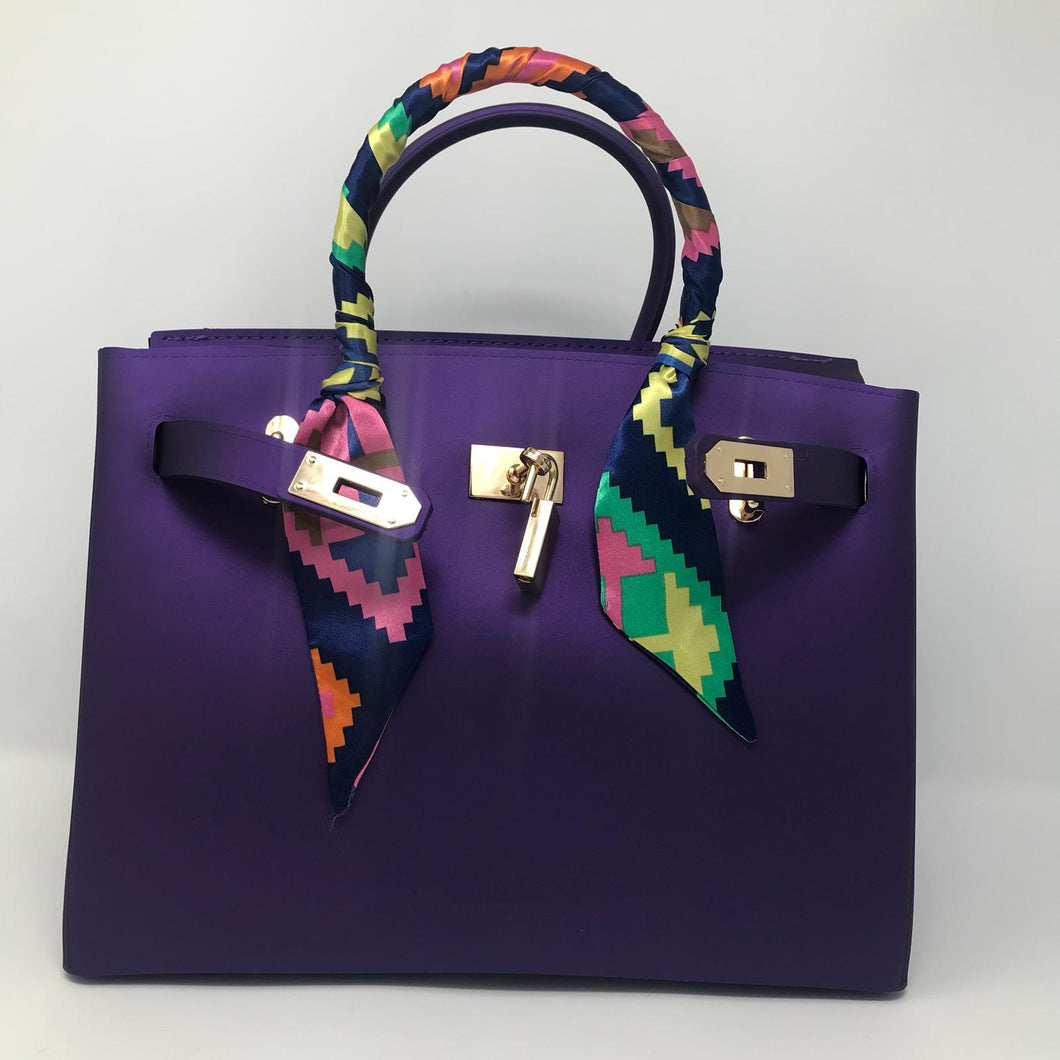 Purple Matte Luxury Tote - Made Your Look Co.
