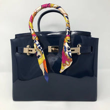 Midnight Blue Luxury Jelly Tote - Made Your Look Co.
