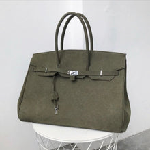 Jumbo Olive Green Canvas Tote - Made Your Look Co.