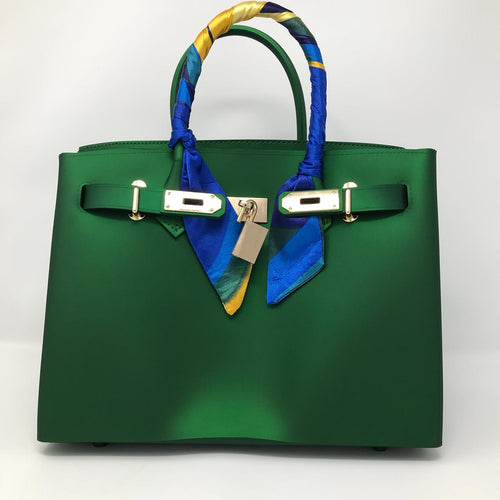 Jade Green Matte Luxury Tote - Made Your Look Co.