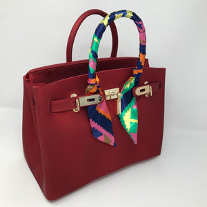Red Matte Luxury Tote - Made Your Look Co.