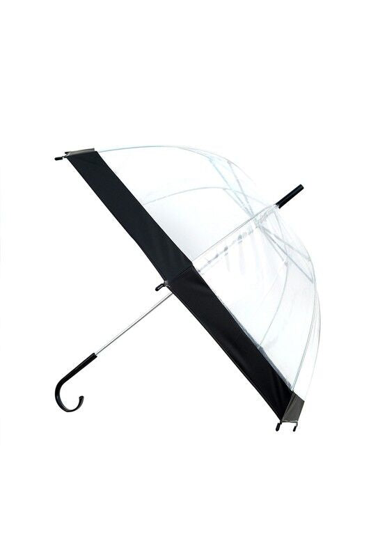 Clear Black Trim Dome Umbrella - Made Your Look Co.