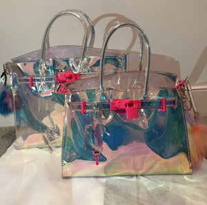Small Hologram Jelly Tote - Made Your Look Co.