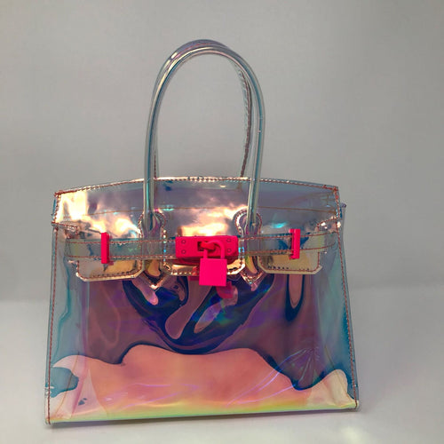 Medium Hologram Jelly Tote - Made Your Look Co.