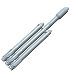 SpaceX Falcon Heavy Builders Kit 1:89 Scale