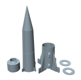 Redstone 3D Printed Missile Builders Kit Individual Pieces