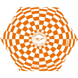 "Orange & White 12"" Estes Opened Parachute"