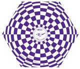"Purple & White 15"" Estes Opened Parachute"