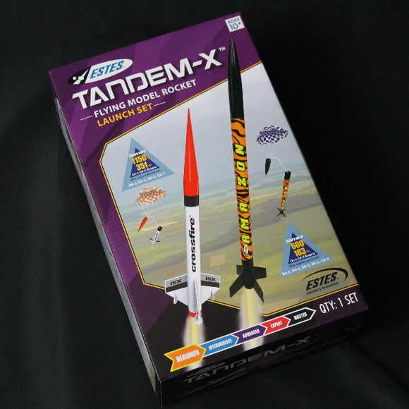 Estes Tandem-X Retail Packaging
