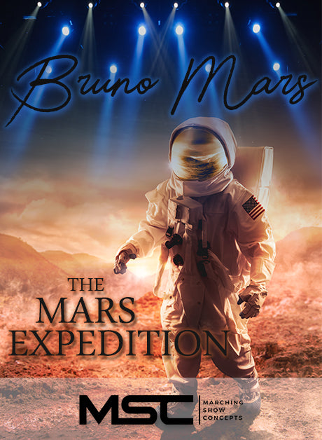 Bruno Mars:  The Mars Expedition (Gr. 3)(7m38s)(37 sets) - Marching Show Concepts