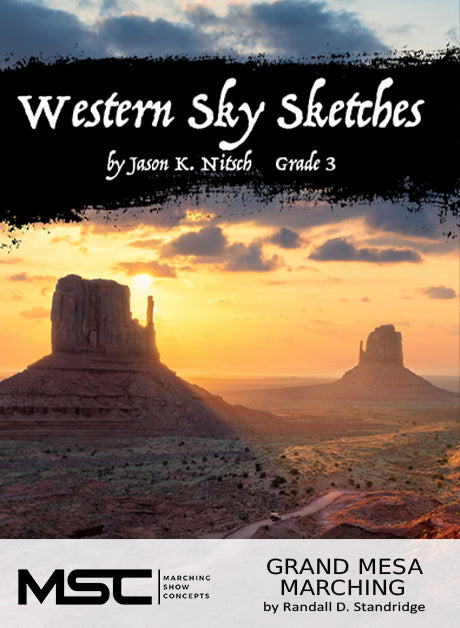 Western Sky Sketches - Marching Show Concepts