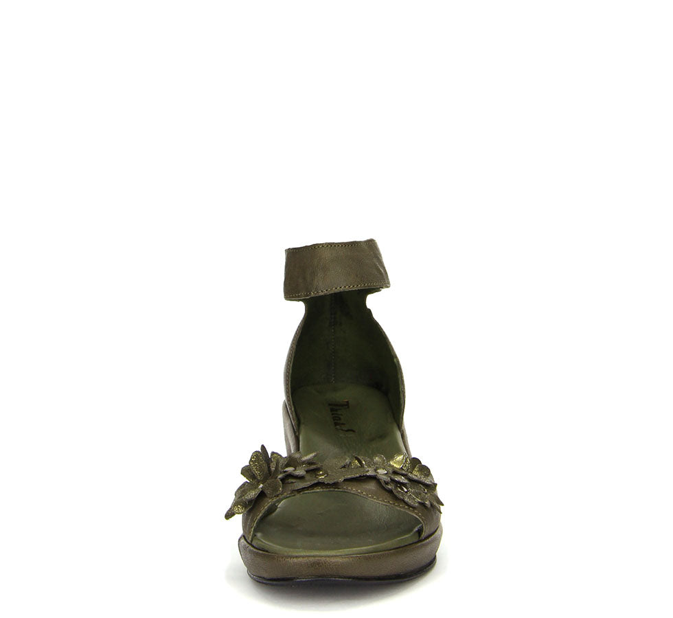 Ladies Wedsch Sandal Green