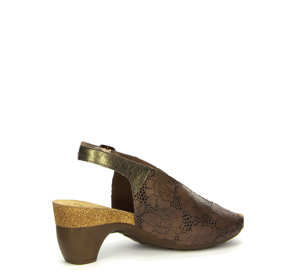 Ladies Traudi Slingback Sandal Brown