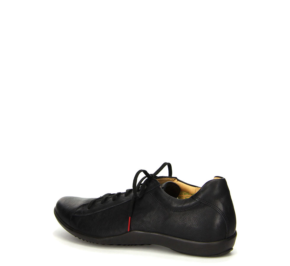 Men's Stone Leather Lace-Up Black