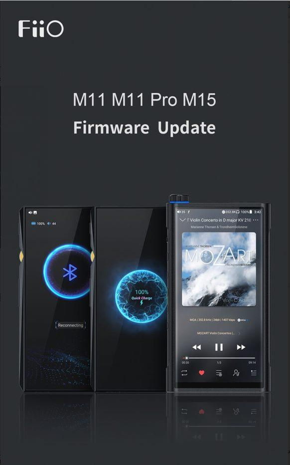 FiiO Updates M15/M11 Pro/M11 with Global MQA Support
