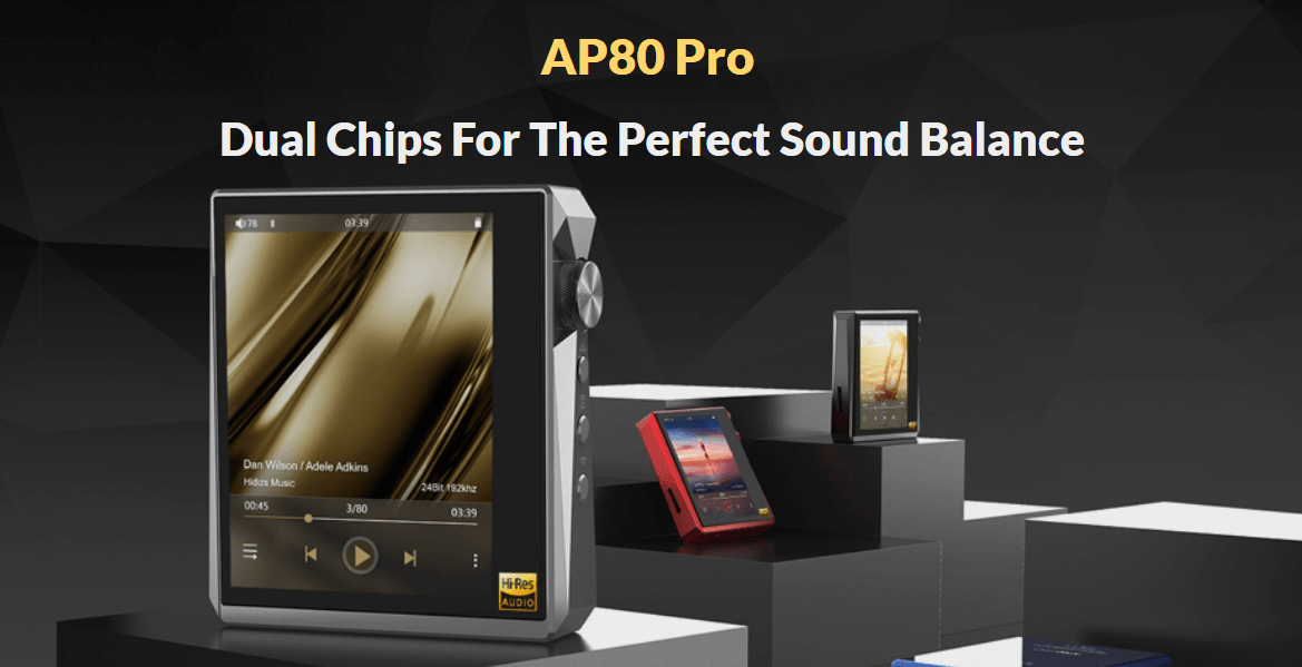 Hidizs AP80 Pro, Smallest Hi-res Mini Music Player Comes with Dual DAC DSD256 | Hifigo