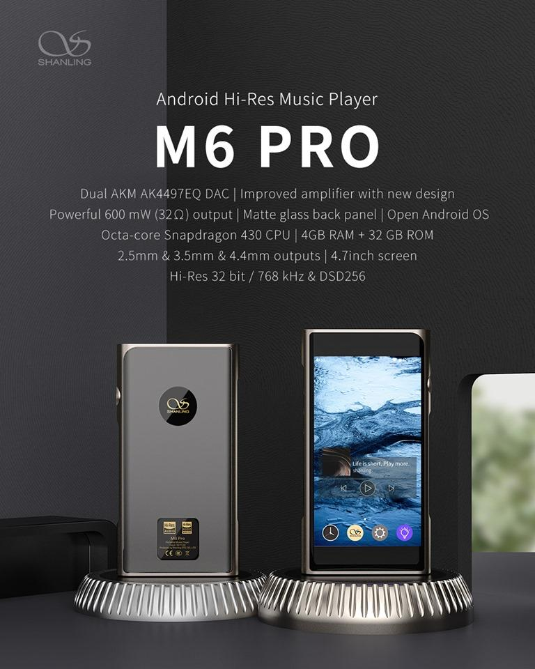 Shanling M6 Pro Announced: Latest Android DAP!!