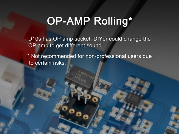 TOPPING D10s op-amp rolling