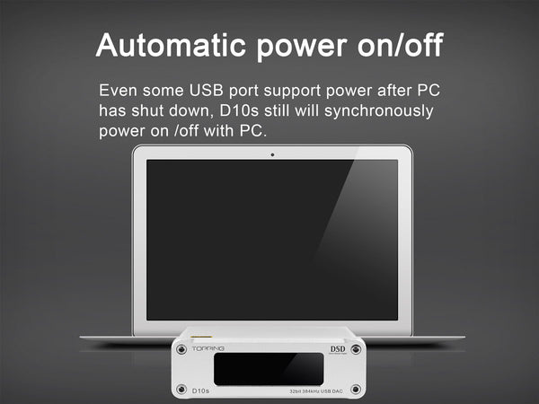 Automatic power on/off feature