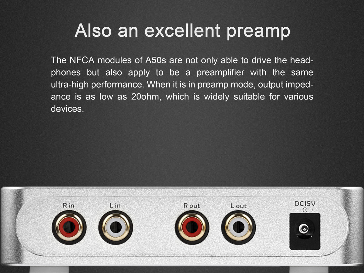 TOPPING A50s amp and preamp