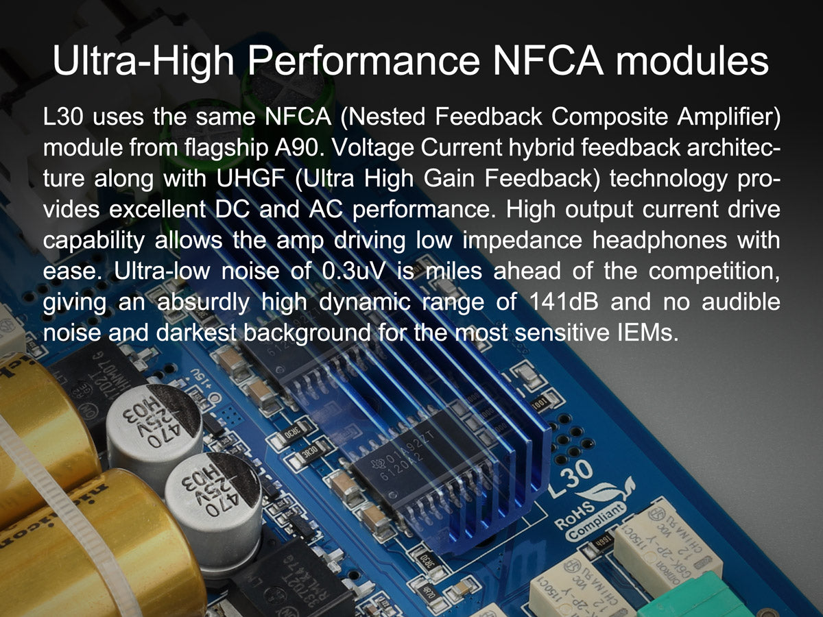 TOPPING L30 headphone amplifier NFCA modules