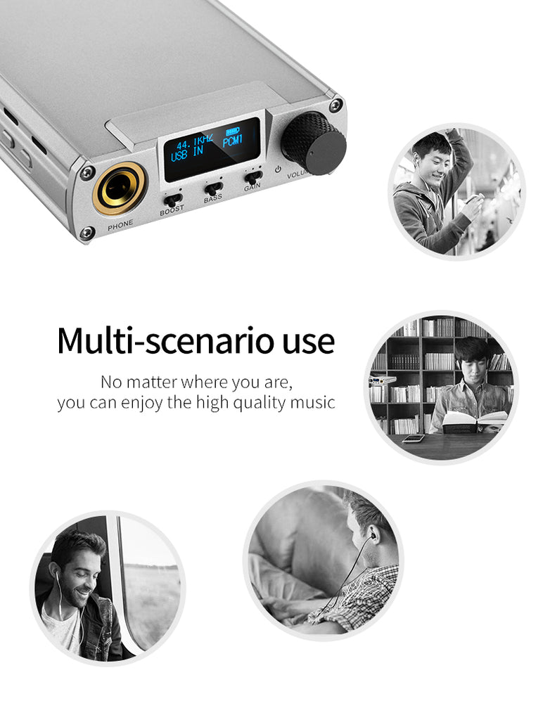 XDUOO XD-05 Plus Portable Desktop DAC Headphone Amplifier 32bit/384kHZ DSD256