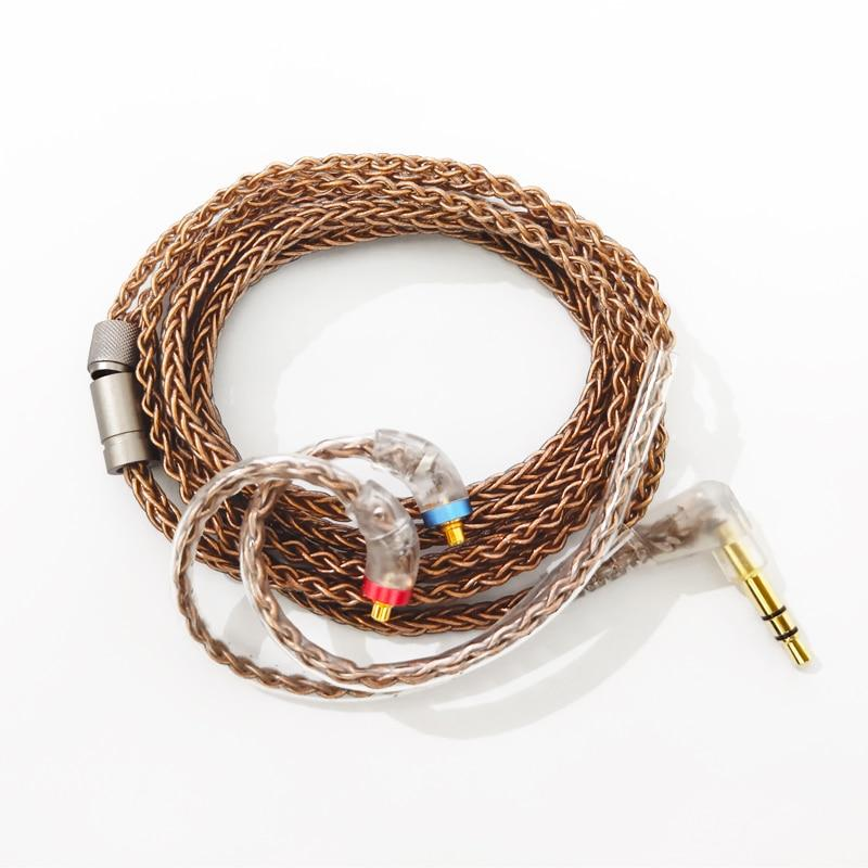 AUDIOSENSE 8 Strands 19 Core OFC Cable 3.5 mm With MMCX Connector HiFiGo