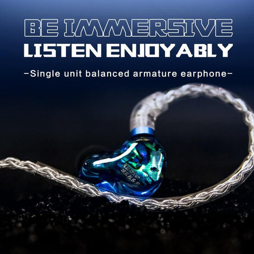 AUDIOSENSE DT100 Knowles Single Balanced Armature Earphones IEMs HiFiGo