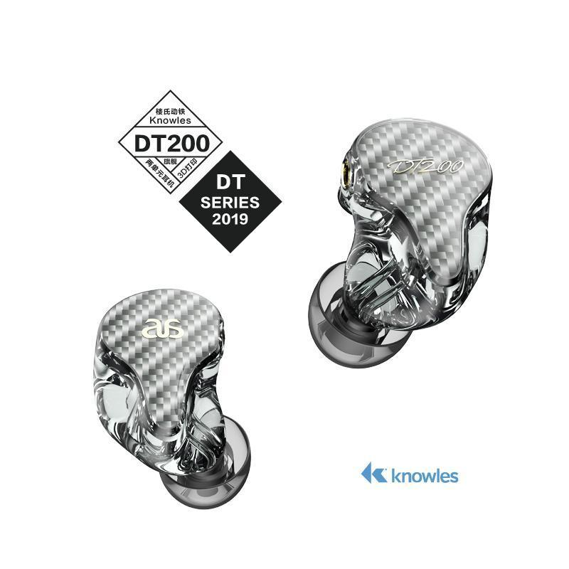 AudioSense DT200 Knowles 2 BA Two Tube 3D Printing In-Ear Earphones IEMs HiFiGo