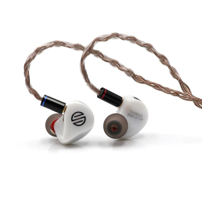 BGVP DH3 1DD+2BA Hybrid Triple Driver In-Ear Monitors IEM with MMCX HiFiGo BGVP DH3 White