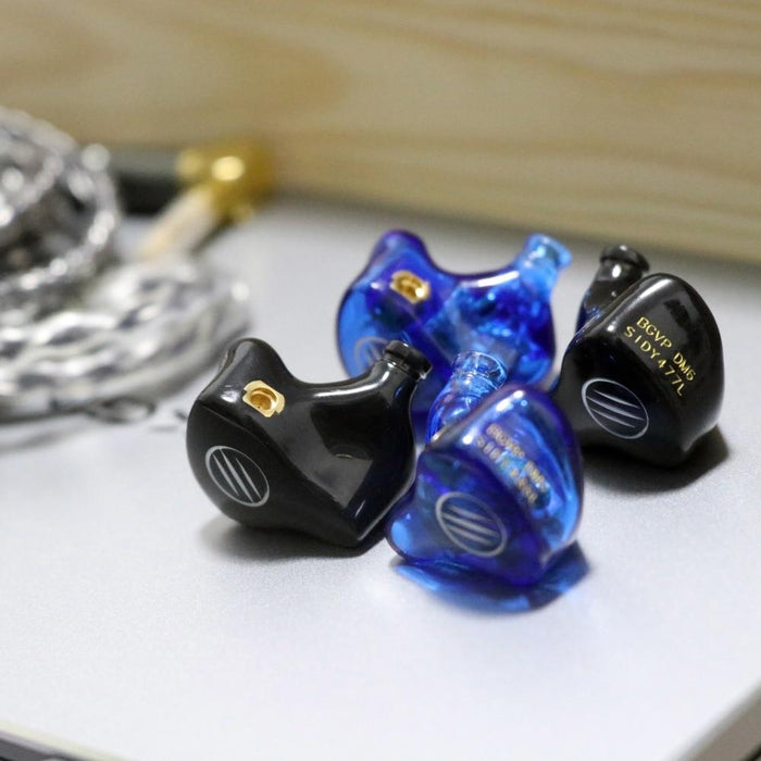 BGVP DM6 5BA In-Ear Earbuds Earphone MMCX Audiophile HiFi Monitor Support Costomized HiFiGo