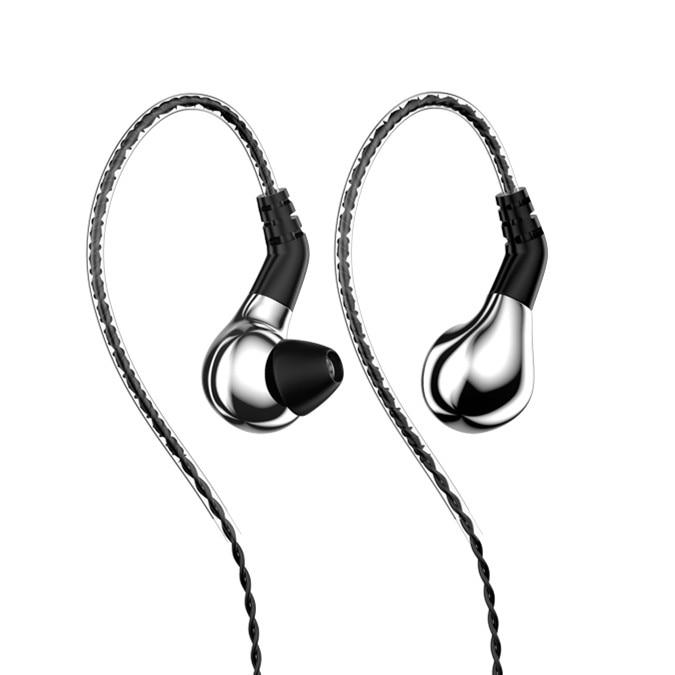 BLON BL-03 HiFi 10mm Carbon Diaphragm Dynamic Driver in-Ear Earphone IEM HiFiGo silver no mic