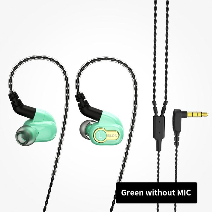 BLON BL-05s BL05s 3rd Generation 10mm Upgraded Carbon Diaphragm In Ear Earphone HiFiGo Green no mic
