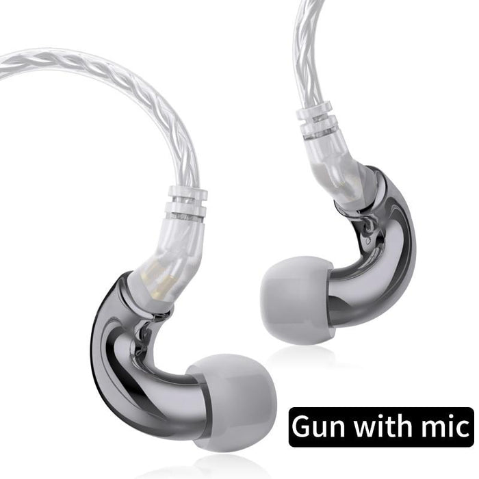BLON BL mini 6mm Dynamic Driver In Ear Earphone IEM HiFiGo Gun with mic