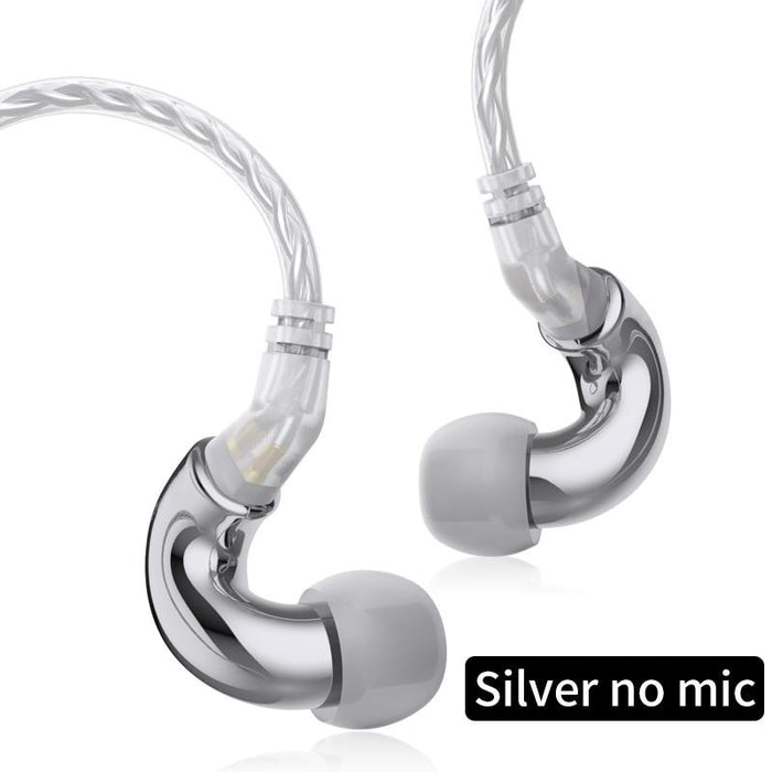 BLON BL mini 6mm Dynamic Driver In Ear Earphone IEM HiFiGo Silver no mic