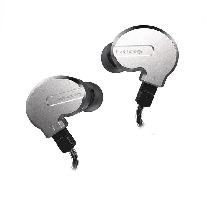 BQEYZ KB1 1BA+2DD Hybrid In Ear Earphones HiFiGo Silver no mic