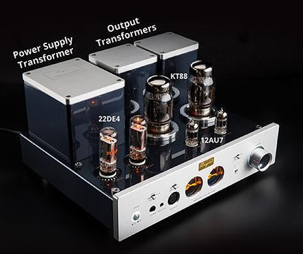 Cayin HA-6A EL34/KT88 Vacuum Tubes, Headphone Amplifier HiFiGo
