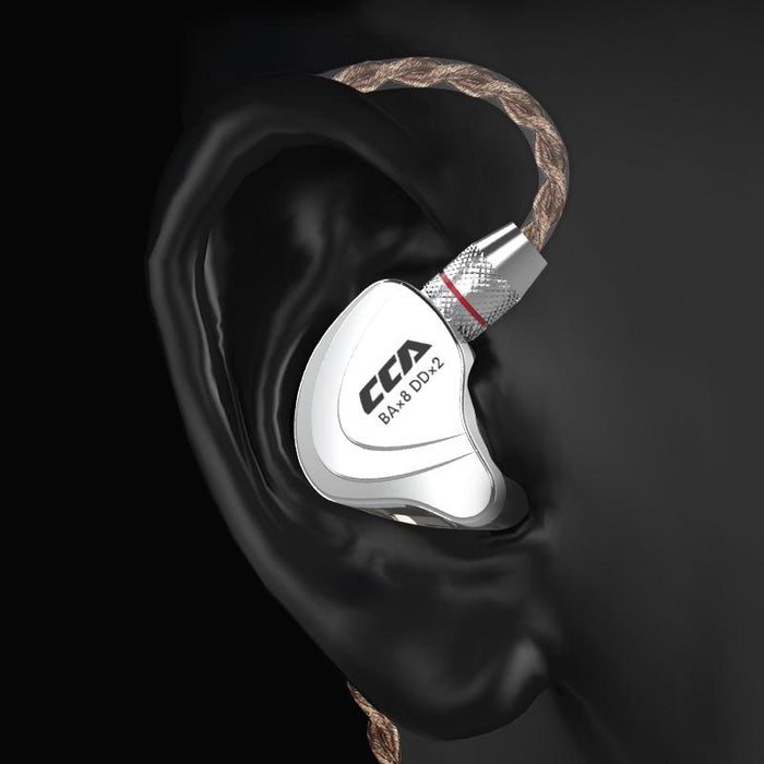 CCA C10 4BA+1DD Hybrid In Ear Earphone HiFiGo
